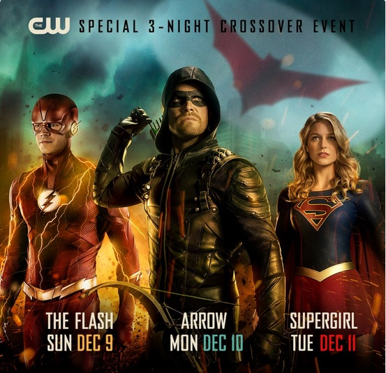 The Arrowverse crossover event featuring The Flash, Arrow, and Supergirl begins December 9