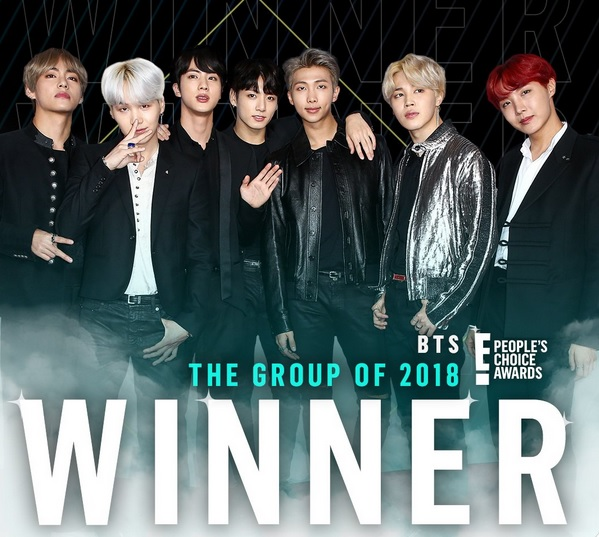 Winners, People's Choice Awards 2018: BTS Won All 4 Nominated Categories